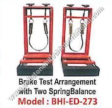 Brake Test Arrangement With Two Spring Blance