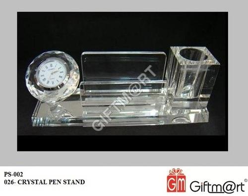 Transparent Crystal Pen Stand
