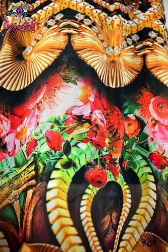 Digital Print Floral Design Fabrics