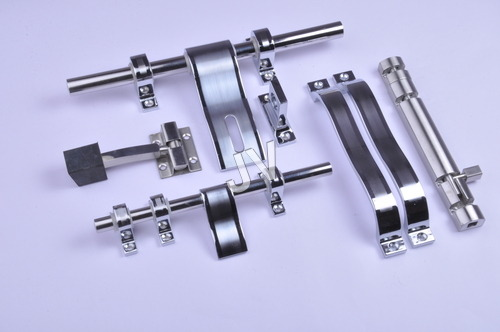 White Metal Door Handle Kit
