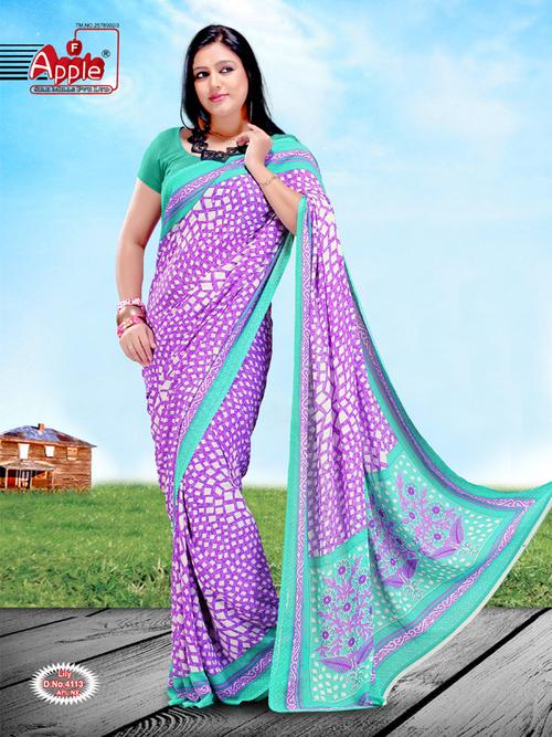 Printed Gorgete Saree