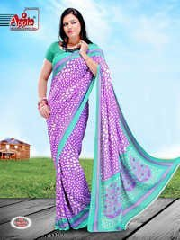 Printed Gorgete Saree