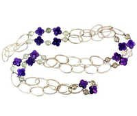 Silver Amethyst Necklace Jewelry