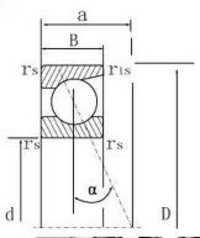 7217 Angular contact bearing