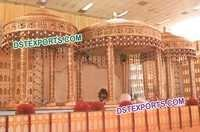 Royal Indian Wedding Gold Mandap