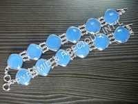 Bezel Gemstone Bracelet