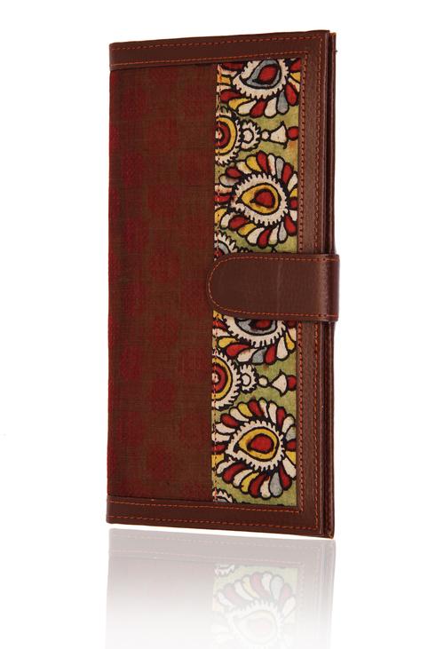 Pouch with Traditional Ikat Kalamkari Print Beautiful Birthday or Anniversary Gifts