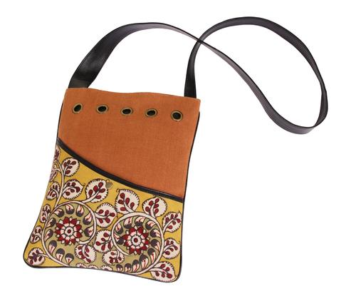 Handpainted Denim Crossbody Messenger Bag Birthday or Housewarming Gift Ideas