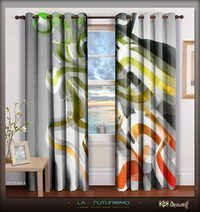 Digital Print Unique Designer Luxury Door Curtains