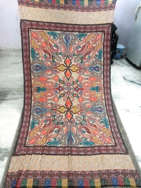 Pure Pashmina Gulab Kaari Shawl