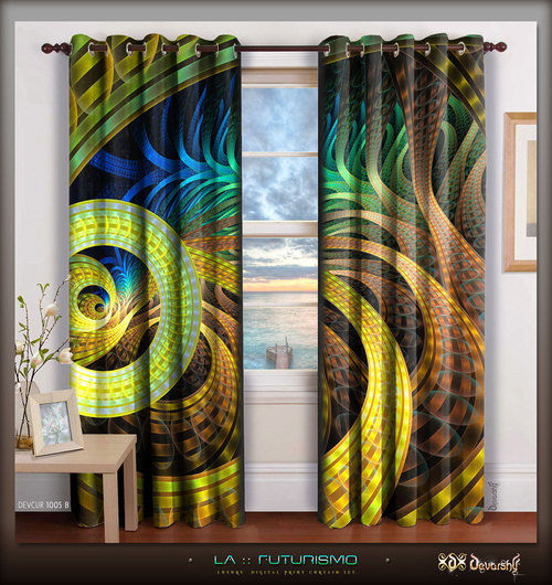 Beautiful Spiral Exclusive Design Curtain Set