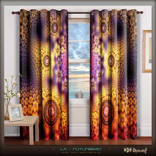 Digital Print High Quality Modern Home Curtains