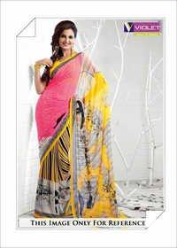Designer Block Printed Sarees