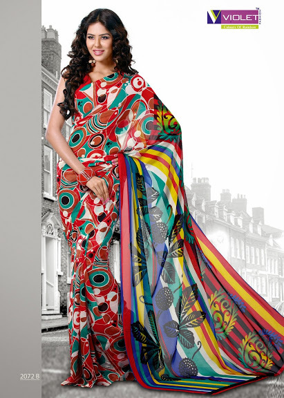 Stylish Printed Sarees
