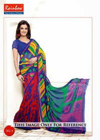 Multi Colored Printed Sarees