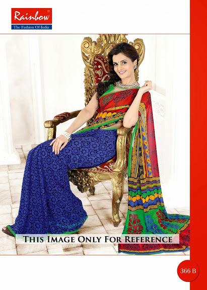 Multi Design Printed Saree