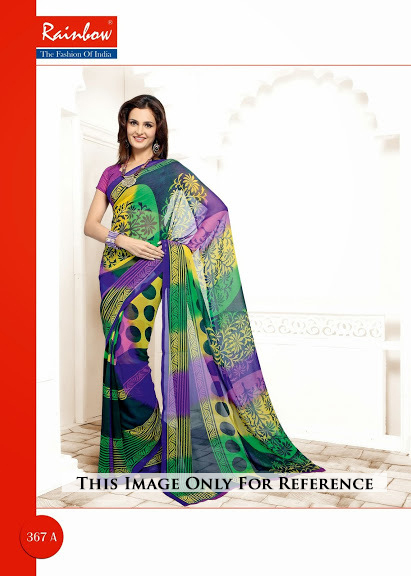 Multi Color Printed Sarees