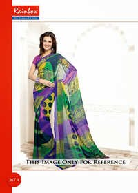 Multi Color Printed Sarees