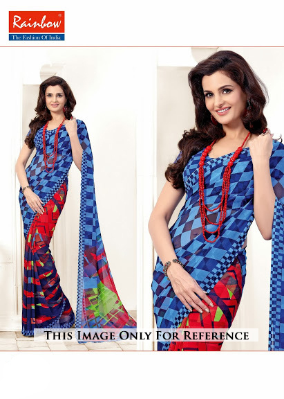 Digital Printed Party Wear Sarees