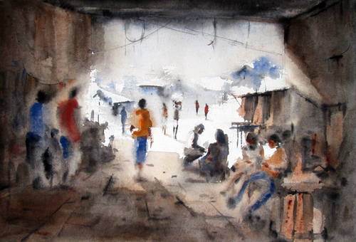 WaterColor Paper Painting