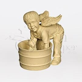 Barrel of Love Boy and Dog Angelic Comfort Figurine