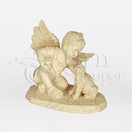 Girl and Dog Angelic Comfort Figurine