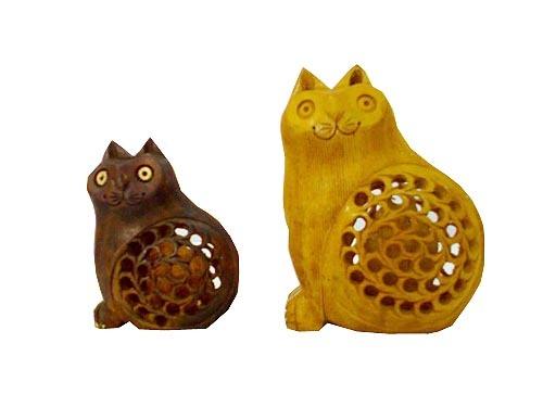 2 Cat Wooden Item