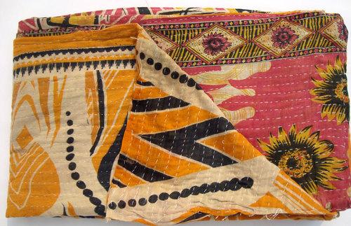 Multicolour Kantha Quilt