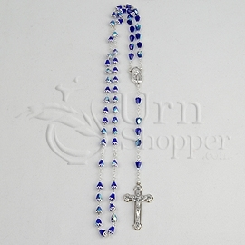 Blue Crystal Rosary