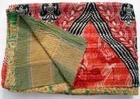 Printed Kantha quilt