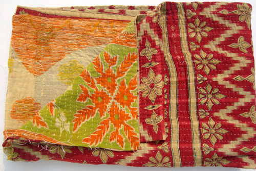 Handstiched Kantha Quilts