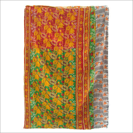 Floral Kantha Blanket