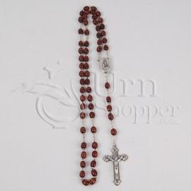 Lourdes Wood Rosary