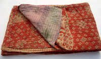 RED Kantha Quilts