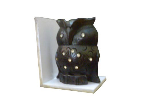 Black wooden owl