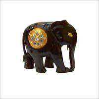 Black Elephant Wooden Craft
