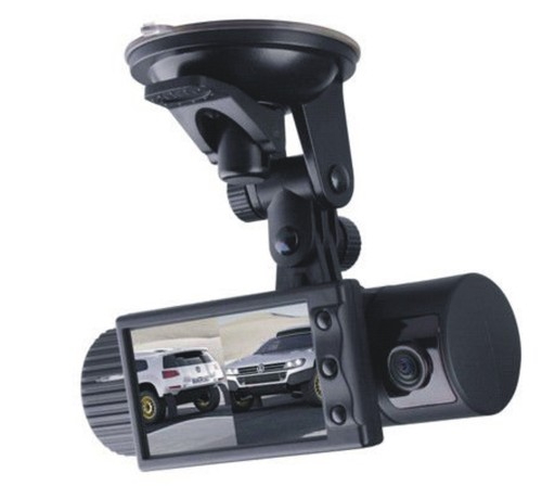 DUAL LENS DASHBOARD CAMERA CAM CAR DVR BLACK BOX VIDEO RECORDER+ GPS LOGGER IN DELHI INDIA