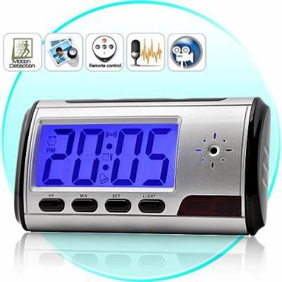 Spy Long Time Recording Digital Table Clock With S