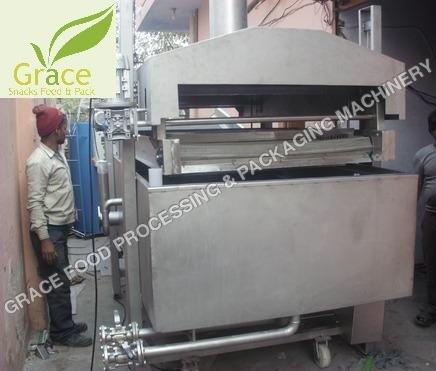 Continous Kurkure Frying Machine