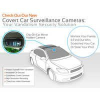 NORMAL LOOKING MIRROR FOR IN CAR VIDEO SURVEILLANCE, PROTECT YOUR THINGS IN DELHI INDIA