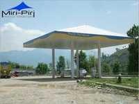 Prefabricated Petrol Pump Canopies