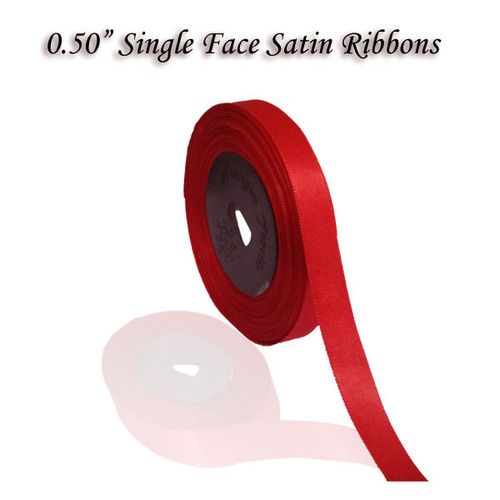"0.50"" Single Satin Ribbons"