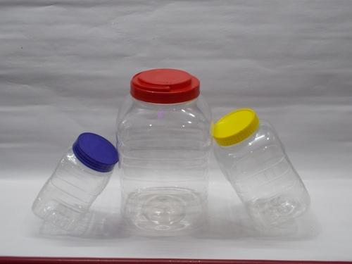 pet jars with  colour caps