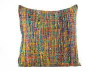 Multicolor Silk Cushion Cover