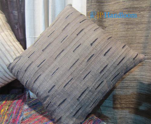Tussar silk bit Deign Cushion Cover