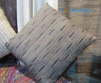 Tussar silk bit deign cushion cover