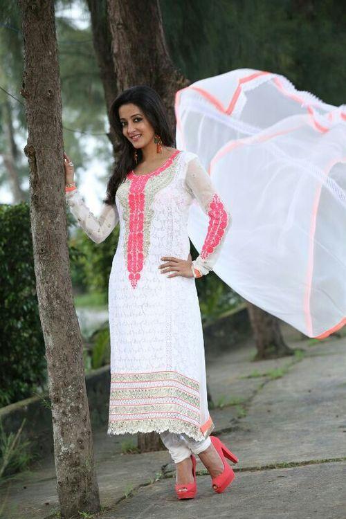 Designer White Salwar Kameez