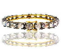 Diamond Moonstone Gold Bangle