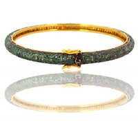 Gold Tsavorite Bangle Jewelry