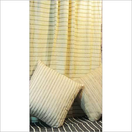 Light yellow 100% Silk curtain